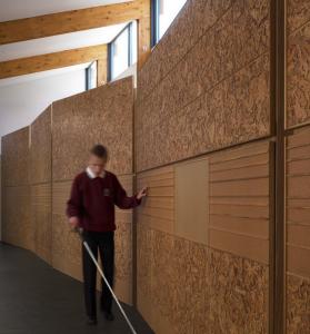 Alan Dunlop - Glasgow school with cork tactile walls